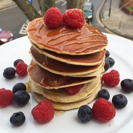 Power through the day with protein packed pancakes. Great as a low carb breakfast option or after workouts.