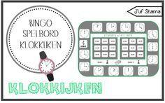 Juf Shanna: Bingo spelbord klokkijken