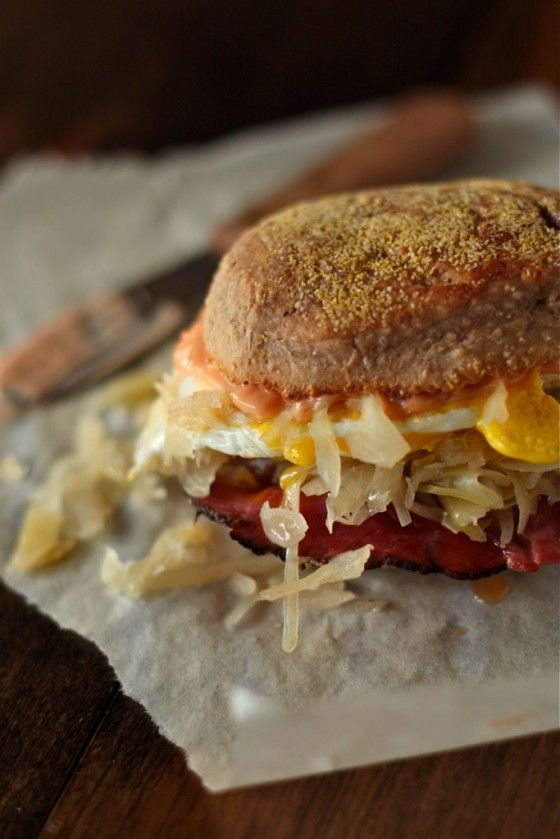 132 best english muffin munches images on pinterest english breakfast reuben sandwiches with pumpernickel english muffins forumfinder Choice Image