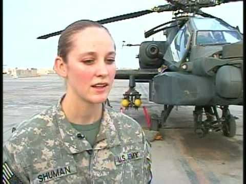 A rare look into the life of a female AH-64D Apache Attack Helicopter.
