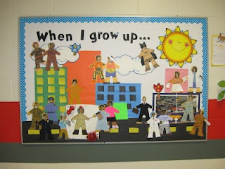 Community Helpers. Cute! And children create their own mini figure of what they want to be when they grow up!
