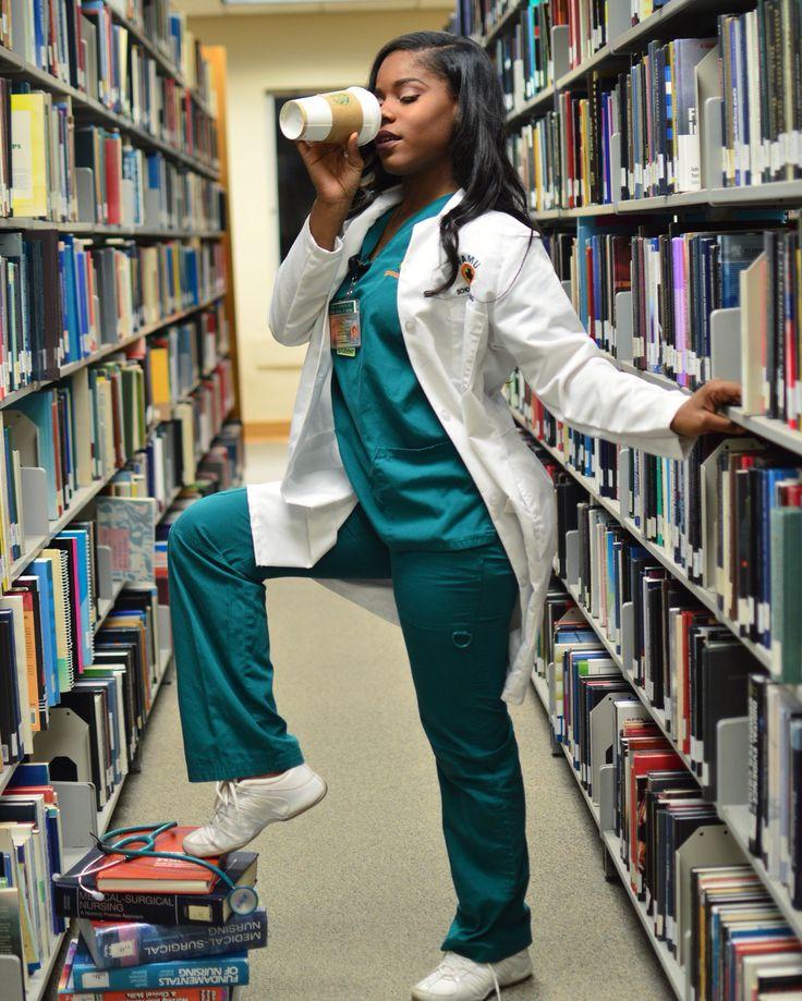 FAMU nursing graduation shoot in the library.