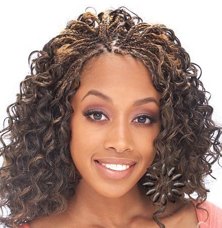 curly microbraid hairs | Micro Braids Hairstyles