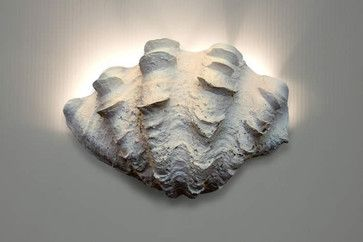 Wall Sconce - Ruffled Clam Shell beach-style-wall-sconces