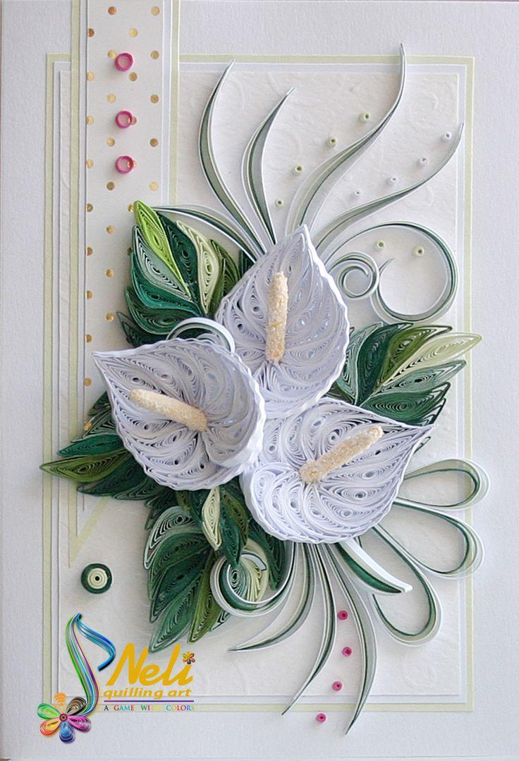 Neli Quilling Art: Quilling cards-flowers More