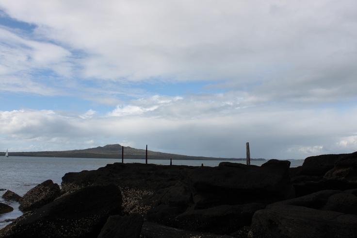 Cheltenham beach, looking out to Rangitoto Island