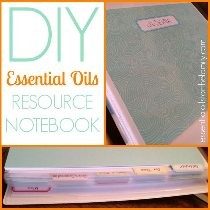 How to Create Your Own Essential Oils Notebook with lots of links to doTERRA info, calendars, and other very helpful tools