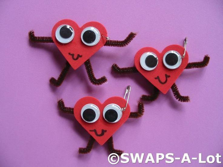 Brownie Swaps Ideas | Googley Eye Heart Girl Scout SWAPs | Brownie ideas