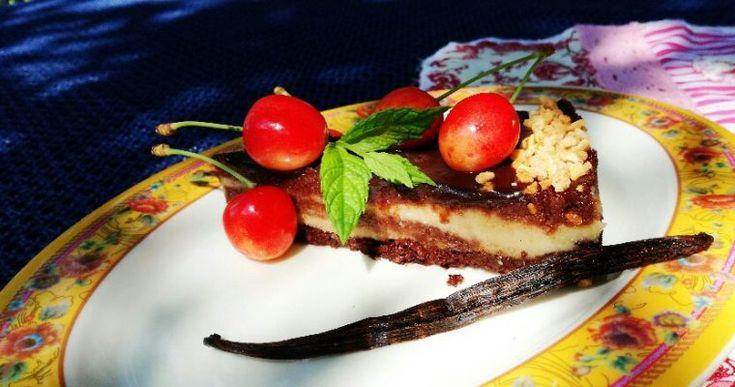 Čokoládovo – vanilkový cheesecake bez mlieka