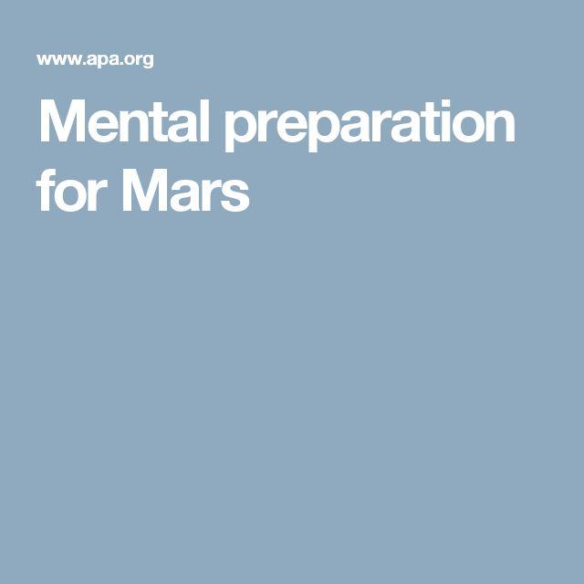 Mental preparation for Mars
