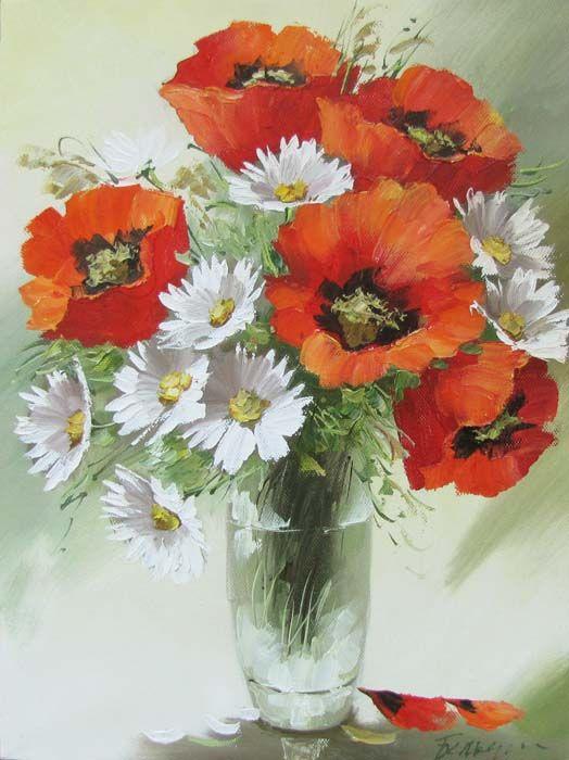 Купить картину маслом с цветами - натюрморты с фруктами– живопись цветы и натюрморты- цветы маслом пионы, розы, маки, сирень