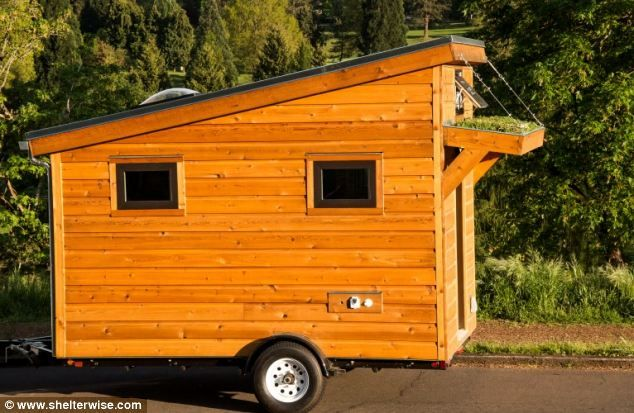 The tiny 96sq ft eco house that even boasts its own GARDEN: 'cozy and compact' cabin can be towed by a car | Mail Online