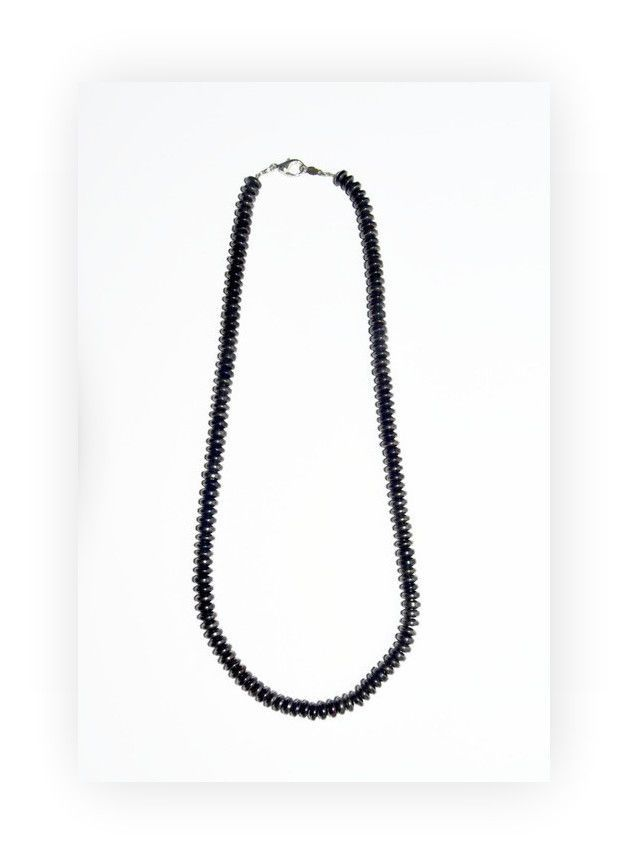 Men's Hematite Necklace, unisex hematite jewelry #oyaikubijou #beaded