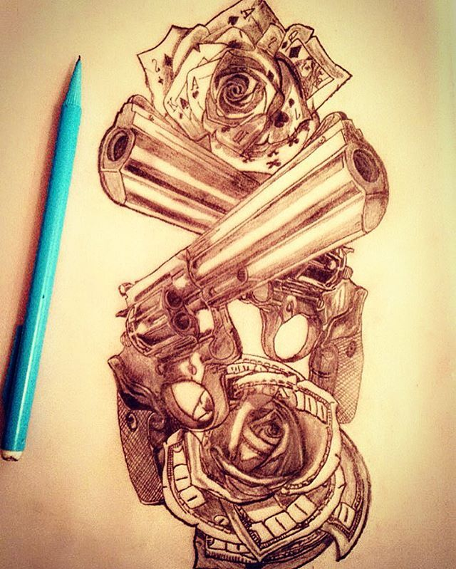 #tattoo #template #design #drawing #art #pencil #pencildrawing #pencilart #gangstatatoo #gangsta #gangstaink #magum50cal #pistol #revolver #magnumrevolver #playingcards #cards #playingcardrose #playingcardart #dollarbills #dollarbillrose #americatatto #inked #ink #guyswithtattoos #girlswithtattoos #sicktattos #lovemoneyquotes #lovemoney #playhard
