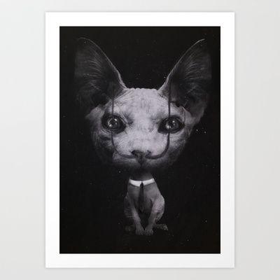 Cat Art Print by zumzzet - $17.00