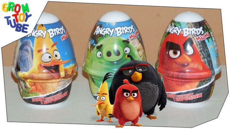 NEW ANGRY BIRDS 2016 unboxing kids world miami surprise eggs #2