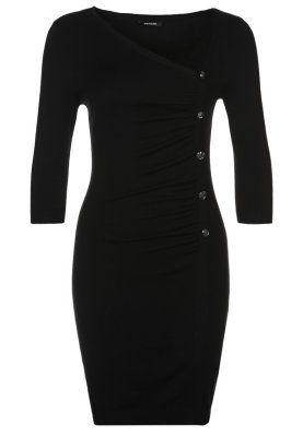 Stickad klänning - Svart