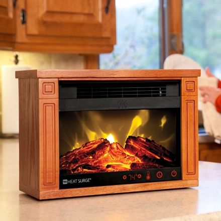 Image result for fake fireplace heater portable