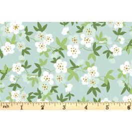 Riley Blake - Safari Party - Floral Sparkle - Mint (SC6506)