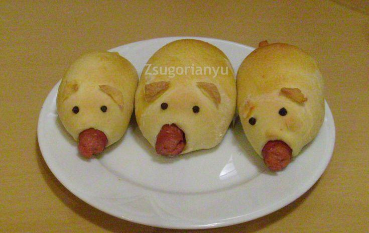 Szilveszteri malac hot-dog