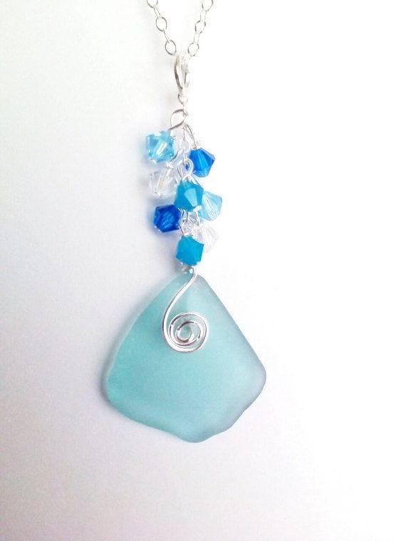 Wedding Jewelry Sea Glass  Jewelry for by NauticalSeaGlass on Etsy