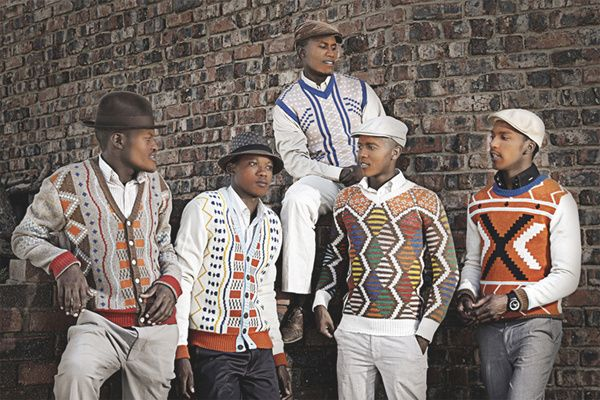 South African knitwear Laduma ngxokolo in South Africa