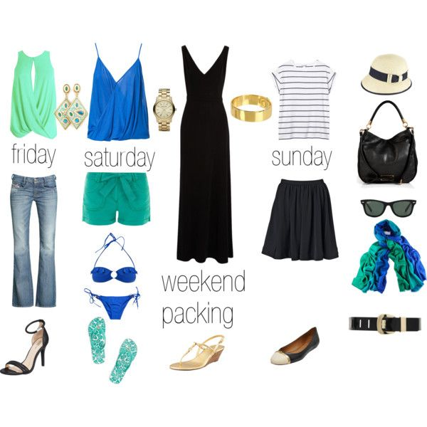 """Weekend Packing (summer edition)"" by rhonda on Polyvore"