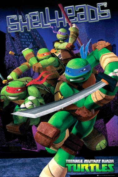 Wojownicze Żółwie Ninja - Starcie - plakat