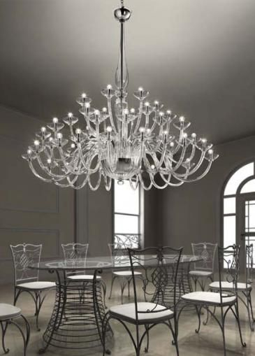 Grand Chandelier clear glass