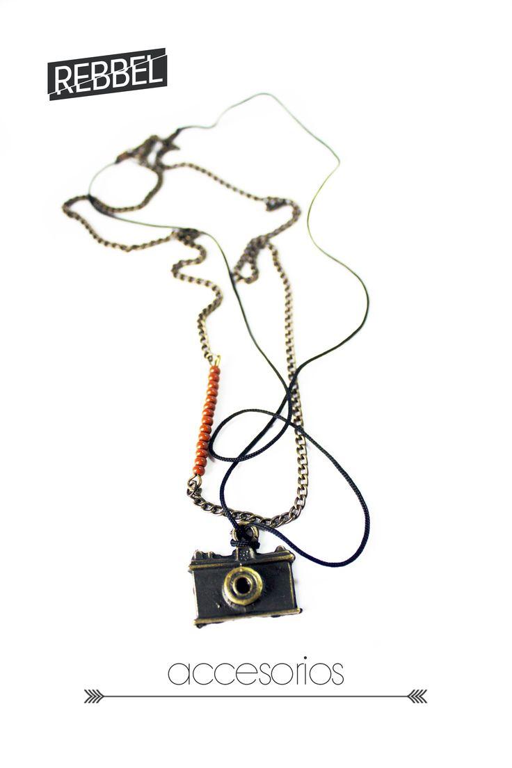 Collar- Cámara 24 cm de largo, -Ref 2040 - www.rebbel.co