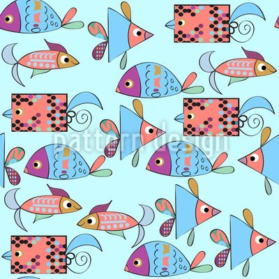 #Fantasy #fish #Pattern #Design #nature #animals #abstract #fauna #fantasy #flora #monsters
