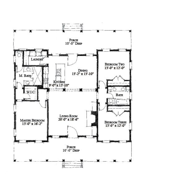 495 best small houses images on pinterest for Small cracker house plans
