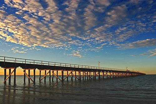 Pier. Hervey Bay, Australia. Great little whale-watching town.