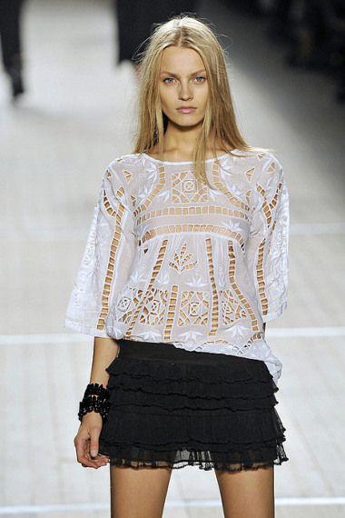 Blusa em Renda -  /    Lace in Blouse -