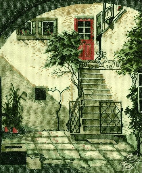 Old Town - House Entrance - Cross Stitch Kits by RTO - R140