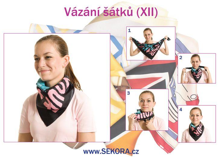 Vázání šátku (XII) #šátek #vázáníšátku http://blog.sekora.cz/?p=5498