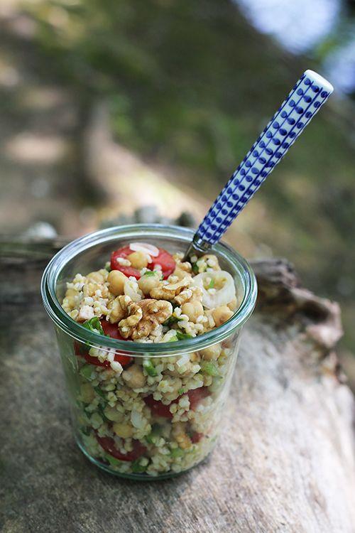 Rezept Kichererbsen-Salat mit Bulgur