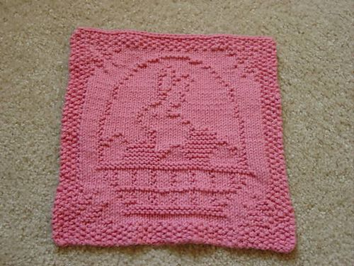 Knitted Dishcloth Patterns For Easter : Ravelry: March Dishcloth KAL pattern by Kris Knits Easter Pinterest Rav...