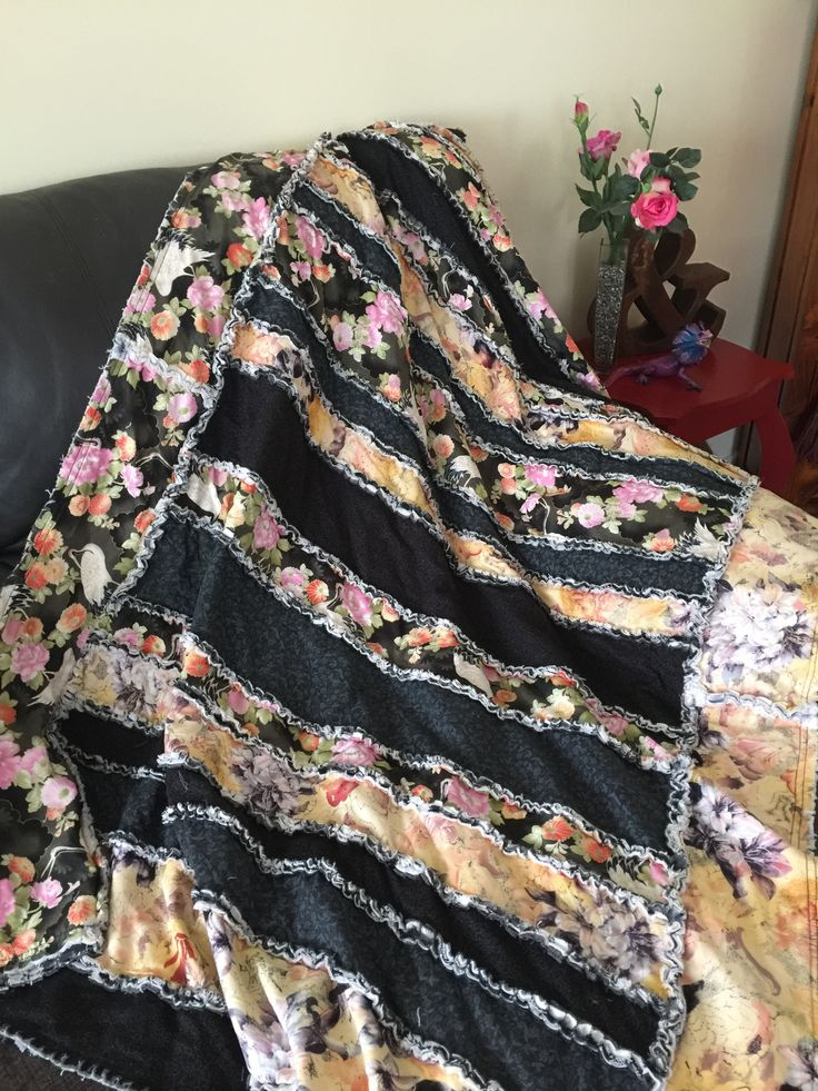 My first rag quilt I made for the lounge