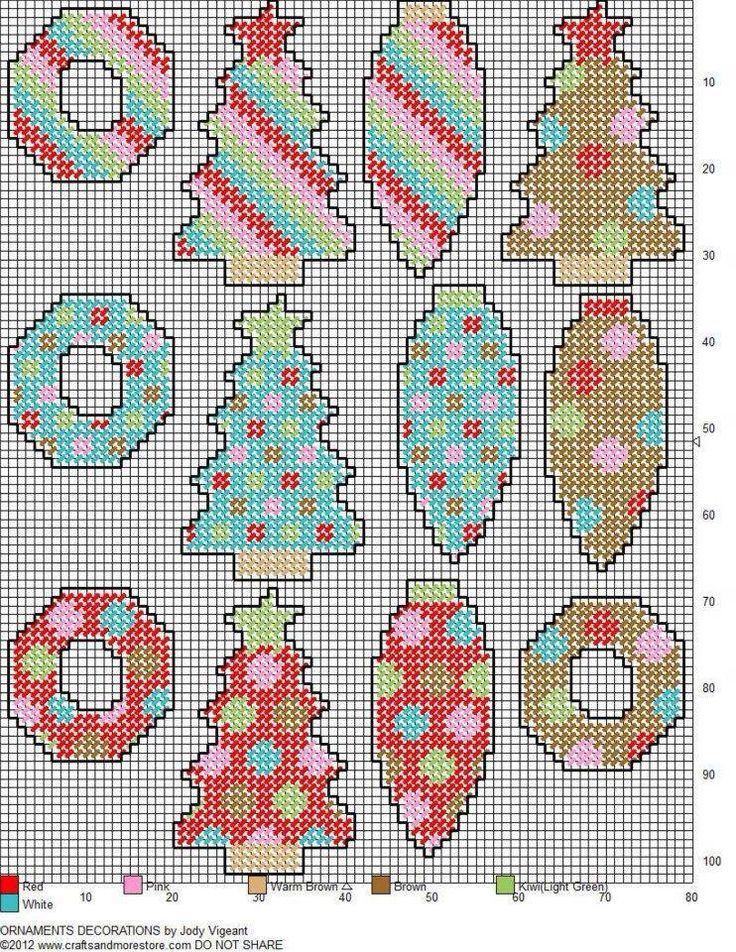 Christmas Ornaments, plastic canvas  (742×960)