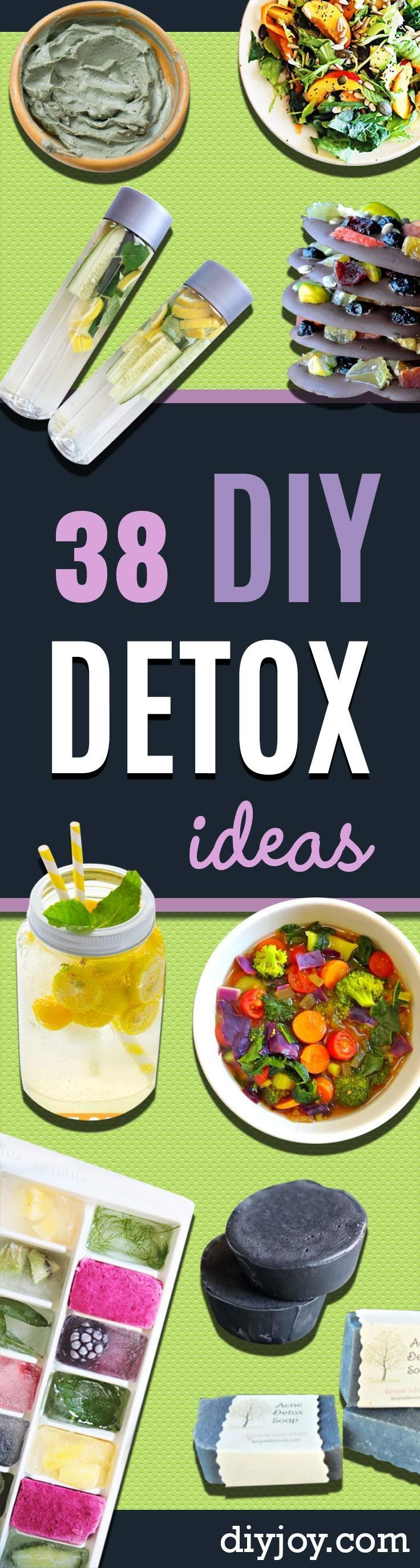 DIY Detox Recipes, Ideas and Tips - How to Detox Your Body, Brain and Skin for Health and Weight Loss. Detox Drinks, Waters, Teas, Wraps, Soup, Masks and Skincare Products You Can Make At Home http://diyjoy.com/diy-detox-ideas #HomeBodyCleanseDetox