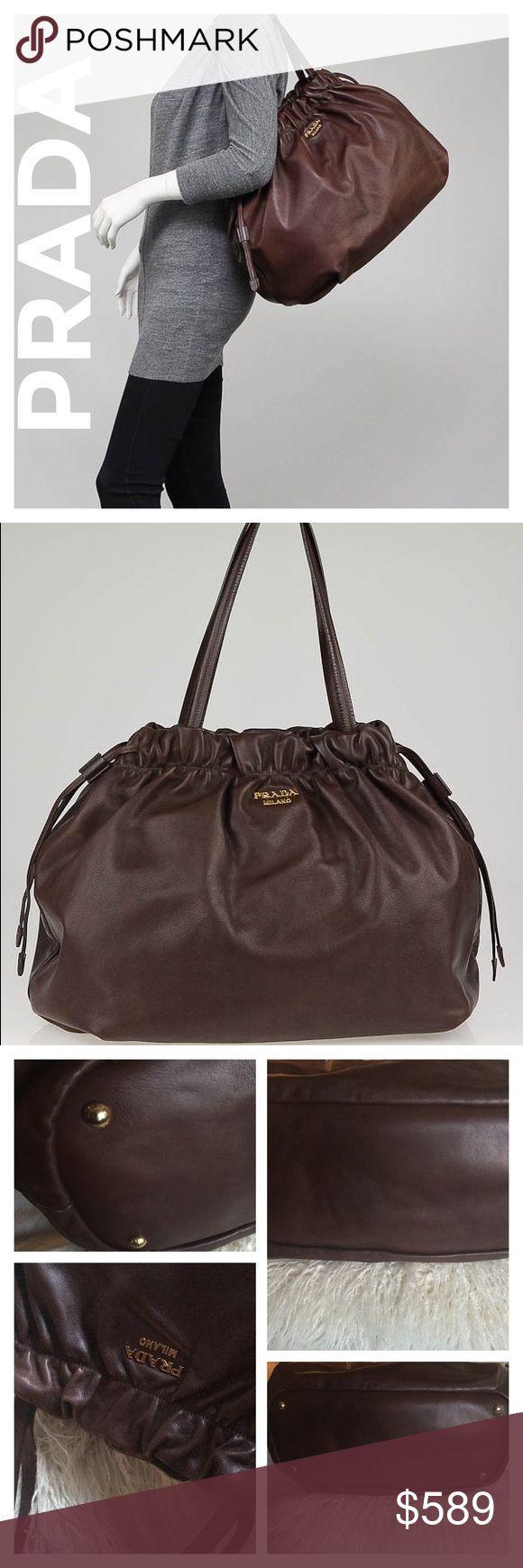 Selling this 💯‼️Authentic Prada Nocciolo downstring Conv Tote on Poshmark! My username is: allinmycloset. #shopmycloset #poshmark #fashion #shopping #style #forsale #Prada #Handbags
