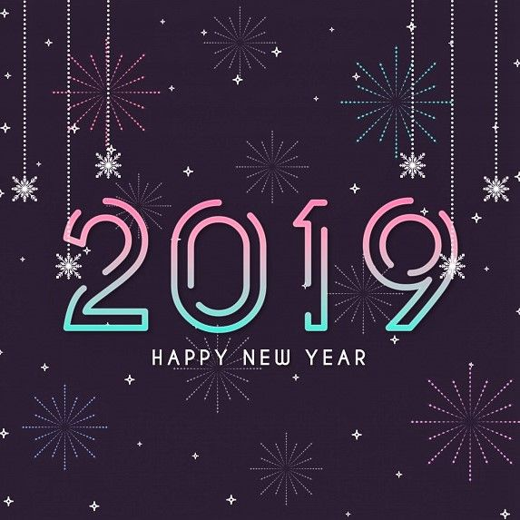 liner new year background 2019 photo