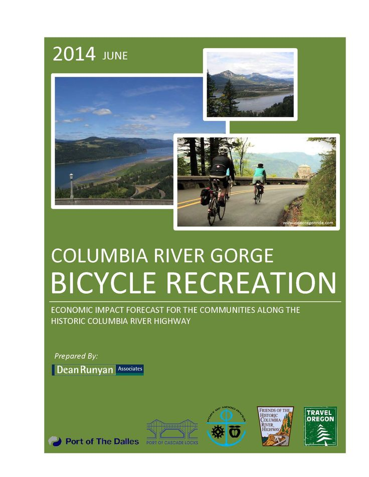 Columbia River Gorge bicycle recreation : economic impact forecast for the communities along the Historic Columbia River Highway, by the Oregon Tourism Commission