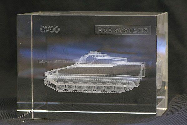 Pansarvagn CV 90 Glasblock