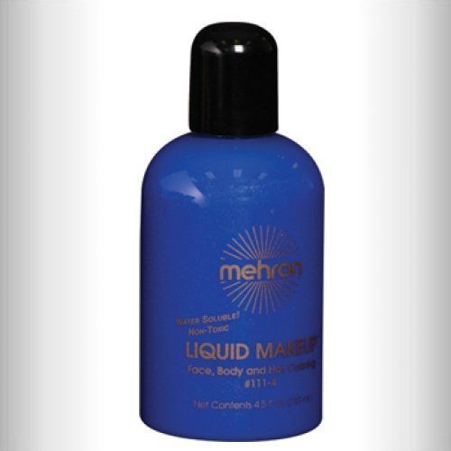 Mehron Liquid Face Paints - Blue BL (4.5 oz) by Mehron. $10.59. Perfect for full body painting or for getting things moving quickly with crowds at events and carnivals.. Mehron Liquid Face paint is water based and can be applied with a brush, sponge or an airbrush.. The big bottle of 4.5 ounces of liquid paint is perfect for refilling small bottles or for very large jobs. It does not come with a brush. Mehron face paints are made with FDA approve ingredients and a...
