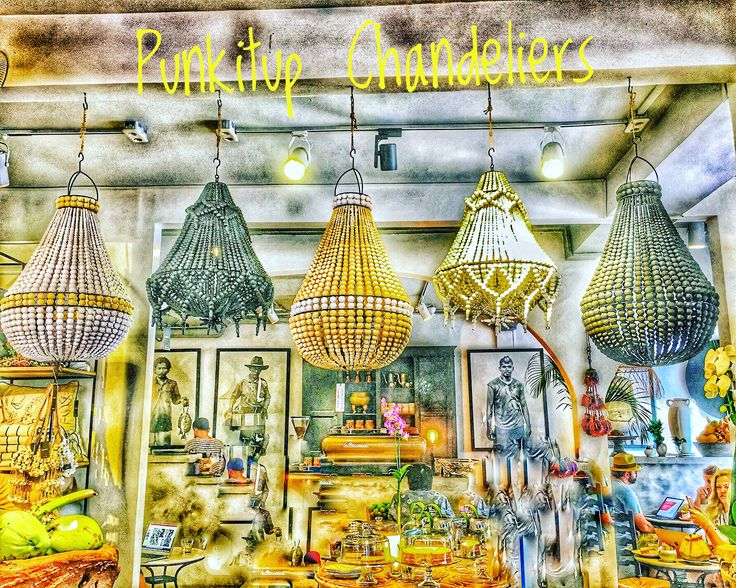 Chandeliers @punkituprecycledfirniture sets a beach feeling in your home.