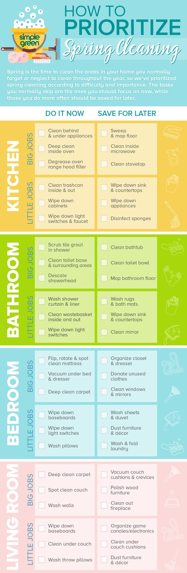 how to spring clean your room