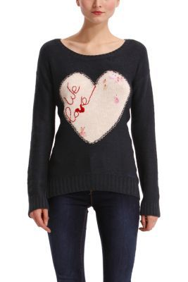 WOMAN FLAT KNITTED PULLOVER LONG SLEEVE