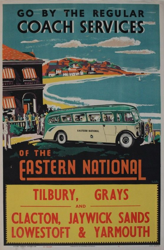 EAST - Go by the Regular Coach Services of the Eastern National - 1949 - (Mick)